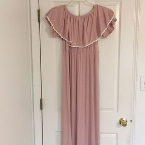 Pinkblush off the shoulder maxi dress